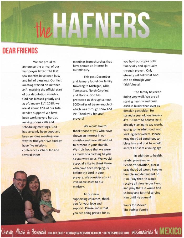 Prayer Letter 12-17