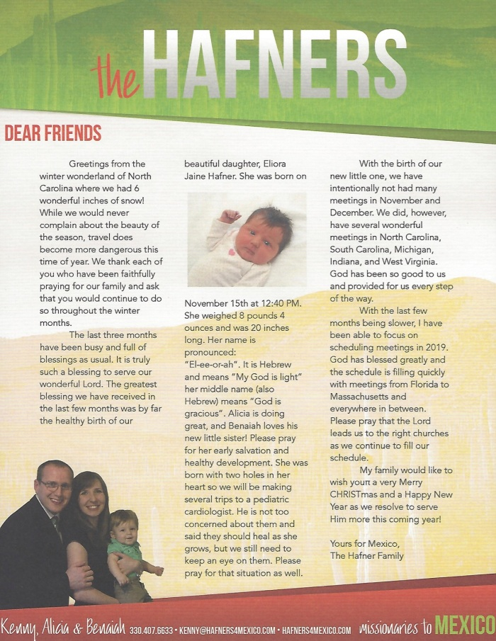 Prayer Letter 12-18